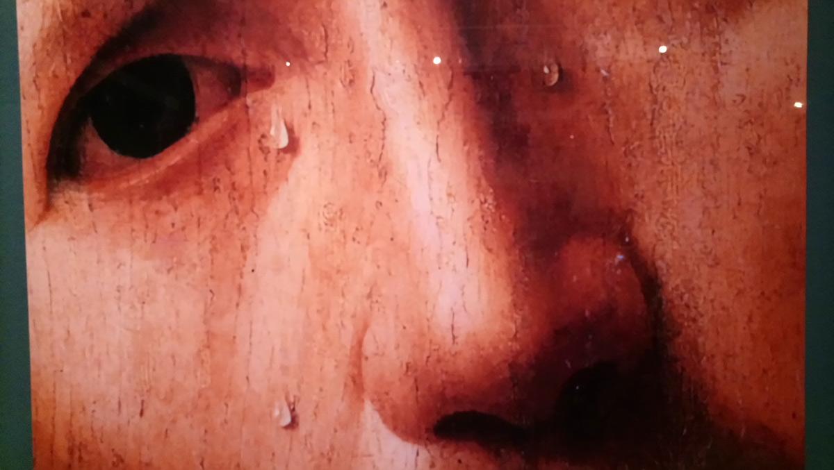 Poster con la riproduzione di un dettaglio dell'Ecce Homo del Collegio Alberoni
