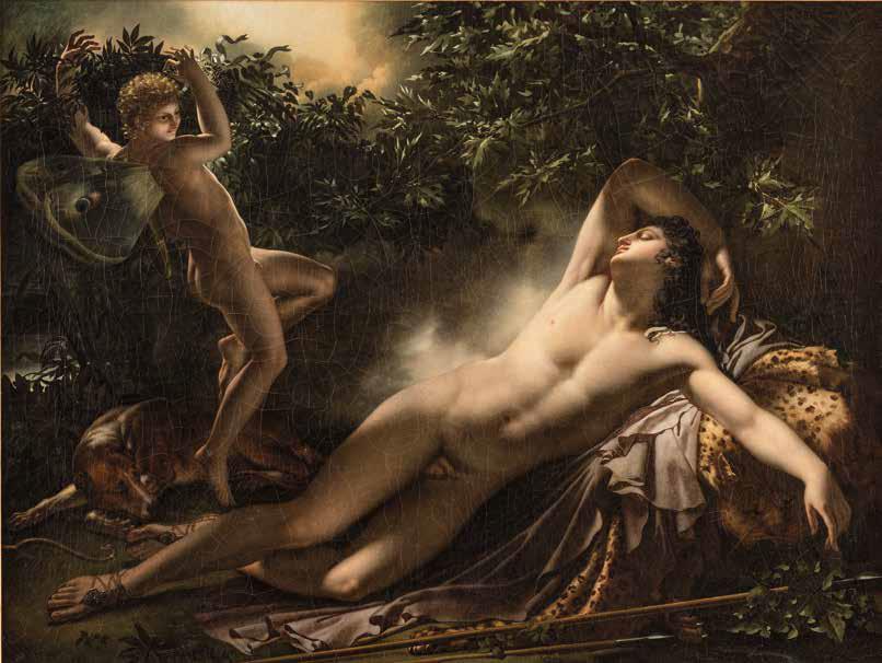 Anne-Louis Girodet, Il sonno di Endimione (1791; olio su tela, 90 x 117,5 cm; Montargis, Musée Girodet)