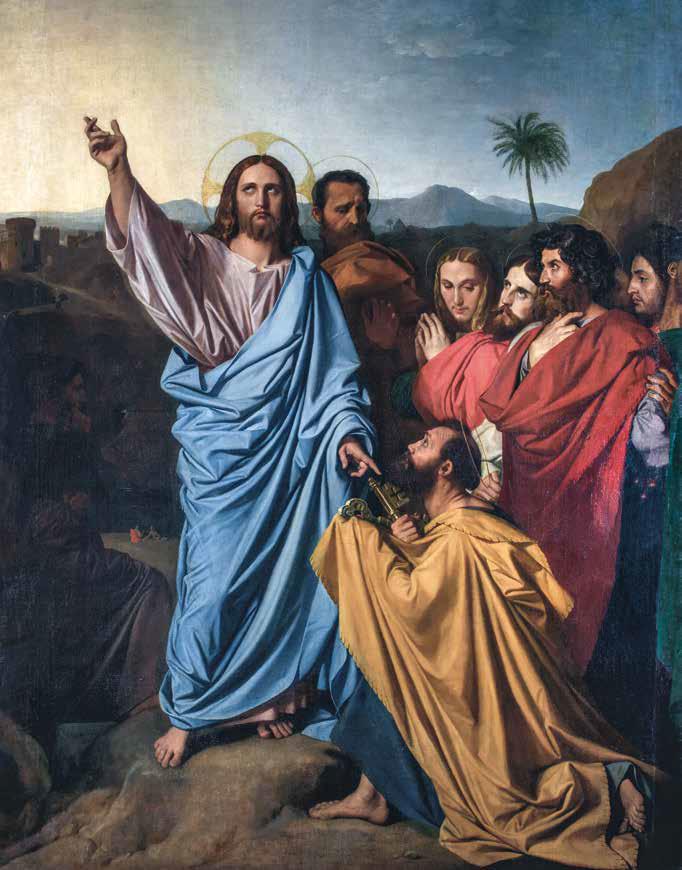 Jean-Auguste-Dominique Ingres, Gesù consegna le chiavi a san Pietro (1818-1820; olio su tela, 280 x 217 cm; Montauban, Musée Ingres)