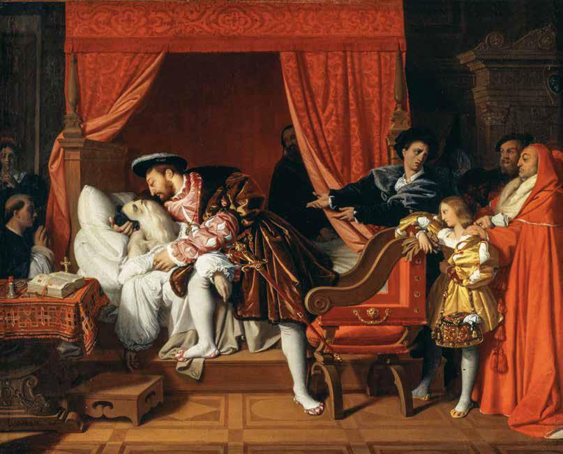 Jean-Auguste-Dominique Ingres, La morte di Leonardo da Vinci (1818; olio su tela, 40 x 50,5 cm; Parigi, Petit Palais Musée des Beaux-Arts de la Ville de Paris)