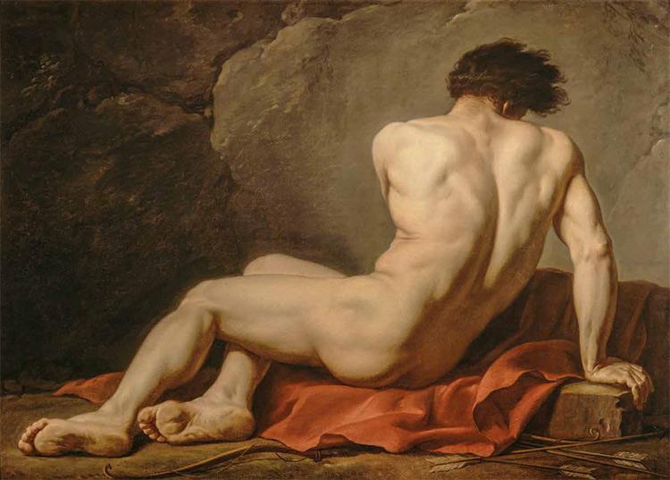 Jacques-Louis David, Nudo maschile detto Patroclo (1780; olio su tela, 121,5 x 170,5 cm; Cherbourg-en-Cotentin, Musée Thomas Henry)