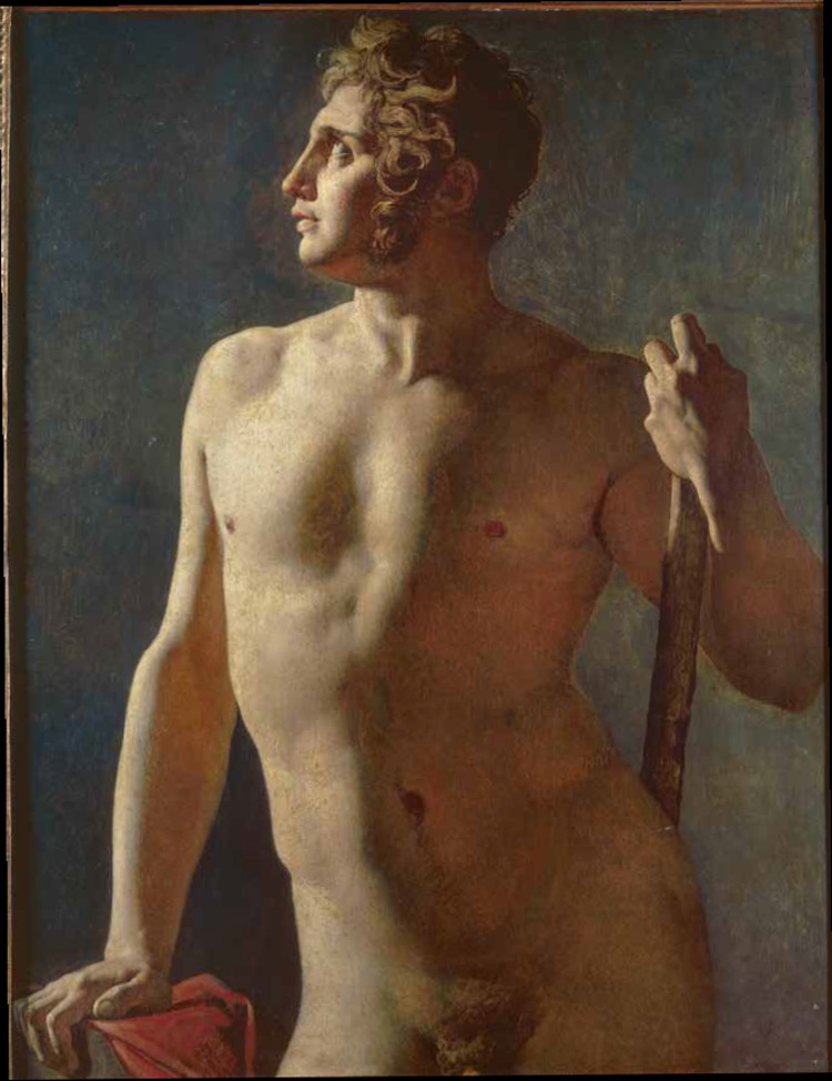 Jean-Auguste-Dominique Ingres, Torso maschile (1801; olio su tela, 102 x 80 cm; Parigi, Beaux-Arts de Paris)