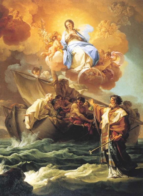 Corrado Giaquinto, San Nicola salva i naufraghi (ante 1746; olio su tela; Bari, Pinacoteca 'Corrado Giaquinto')