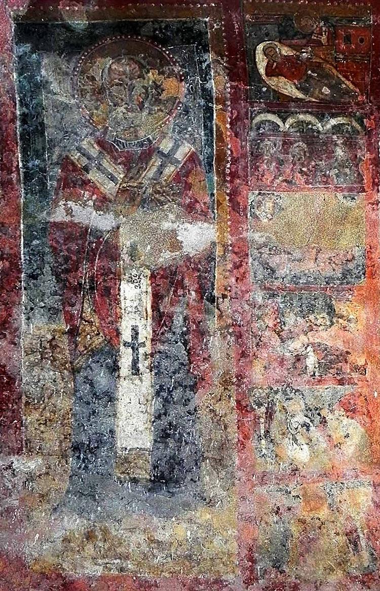 Icona agiografica con San Nicola e storie della sua vita (metà XIII secolo; Andria, cripta di Santa Maria dei Miracoli)