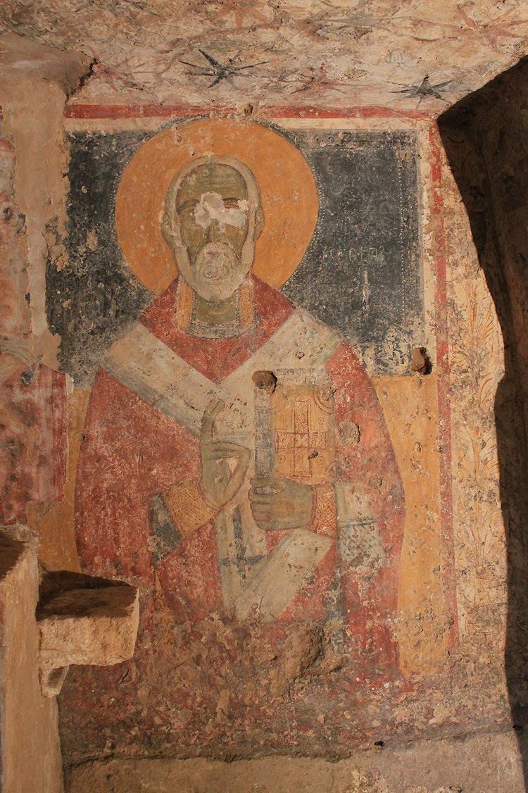 San Nicola (metà XIV secolo; Ugento, cripta del Crocifisso)
