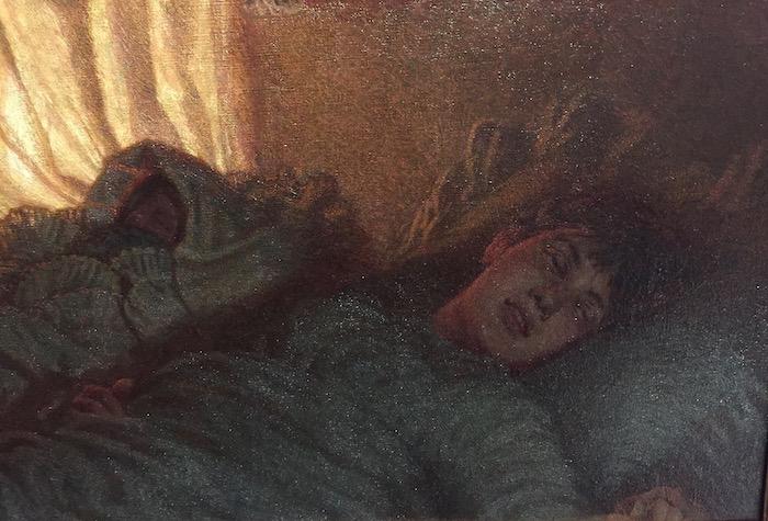 Angelo Morbelli, Alba felice (1892-1893; olio su tela, 50 x 103 cm; Milano, collezione privata)