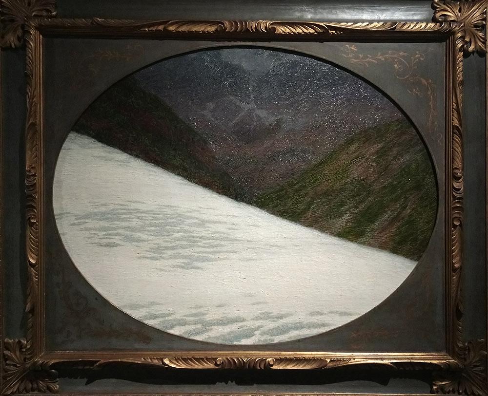 Angelo Morbelli, Il ghiacciaio dei forni (1910-1912; olio su tela, 75 x 94 cm; Milano, collezione privata)