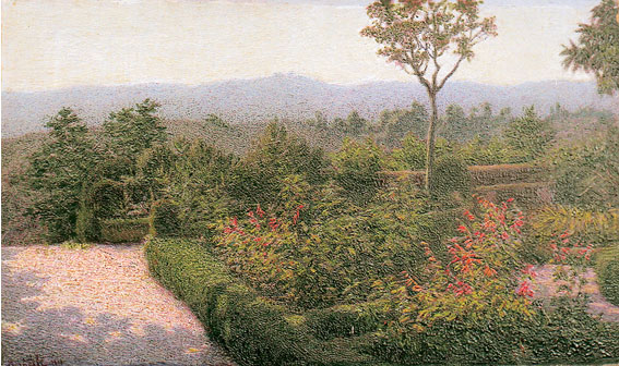 Angelo Morbelli, Giardino alla Colma (1911; olio su tela, 36,5 x 58 cm; Milano, Museo dei Cappuccini)