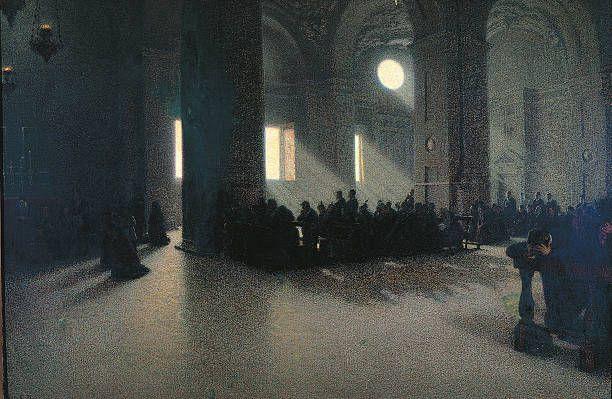 Angelo Morbelli, Solatium miseris (1914; olio su tela, 130 x 199 cm; Milano, collezione privata)