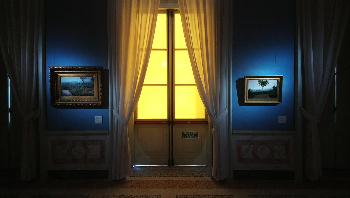 Una sala della mostra Morbelli. 1853 - 1919 alla GAM di Milano