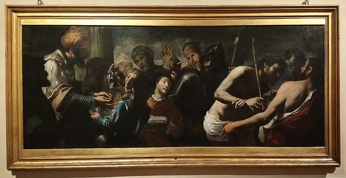 Gregorio e Mattia Preti, Pilato si lava le mani (1640 circa; olio su tela, 131 x 295 cm; Roma, Collezione Rospigliosi presso la sede della Coldiretti)