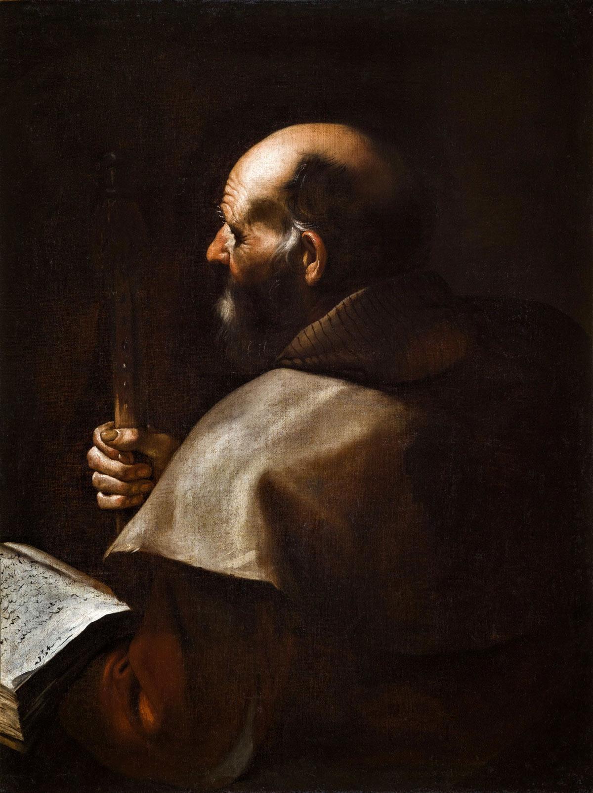 Mattia Preti, Apostolo (1635 circa; olio su tela, 97 x 73,5 cm; Torino, Galleria Giamblanco)