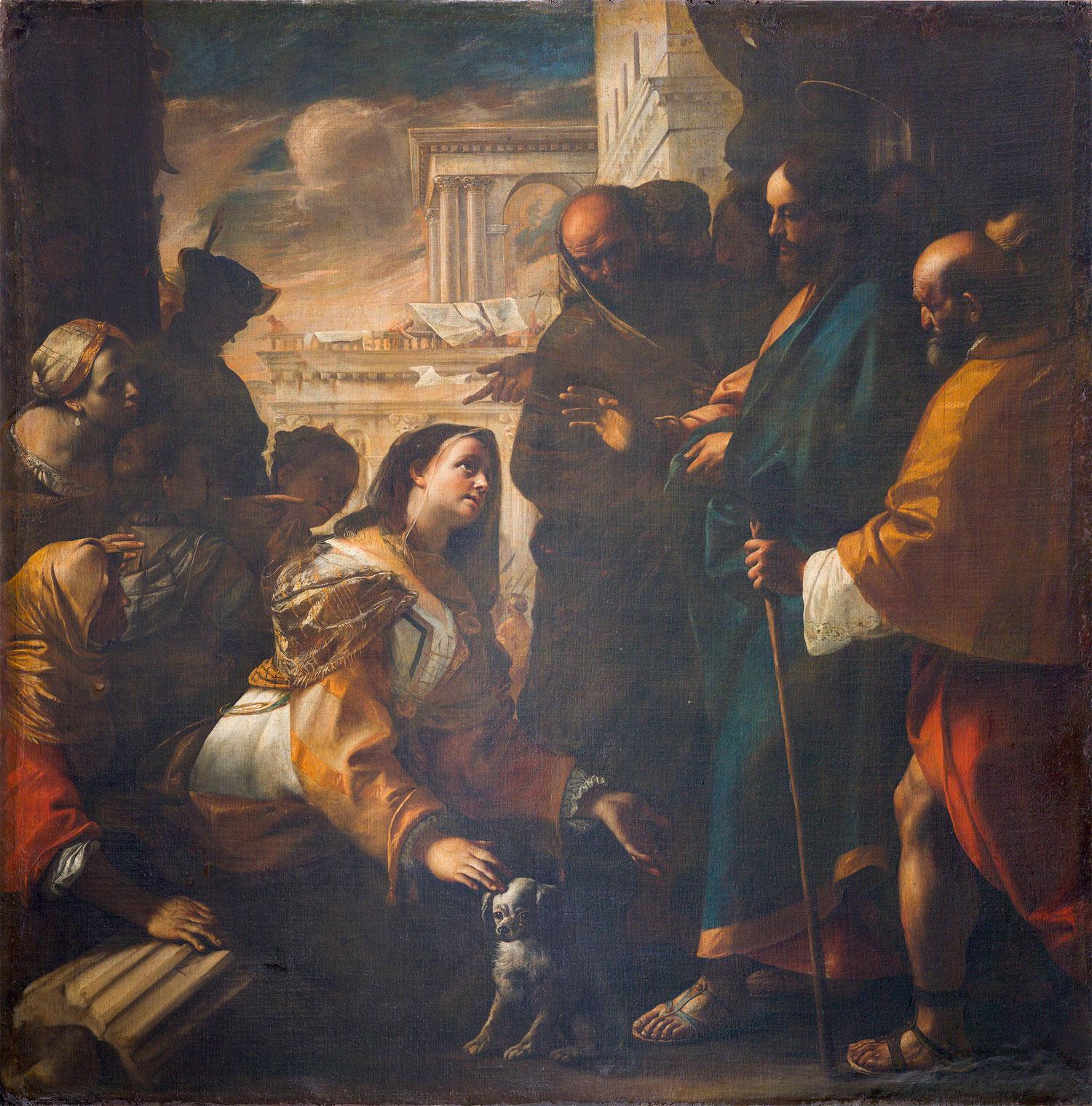 Mattia Preti, Cristo e la cananea (1646-1647 circa; olio su tela, 240 x 235 cm; Collezione privata)