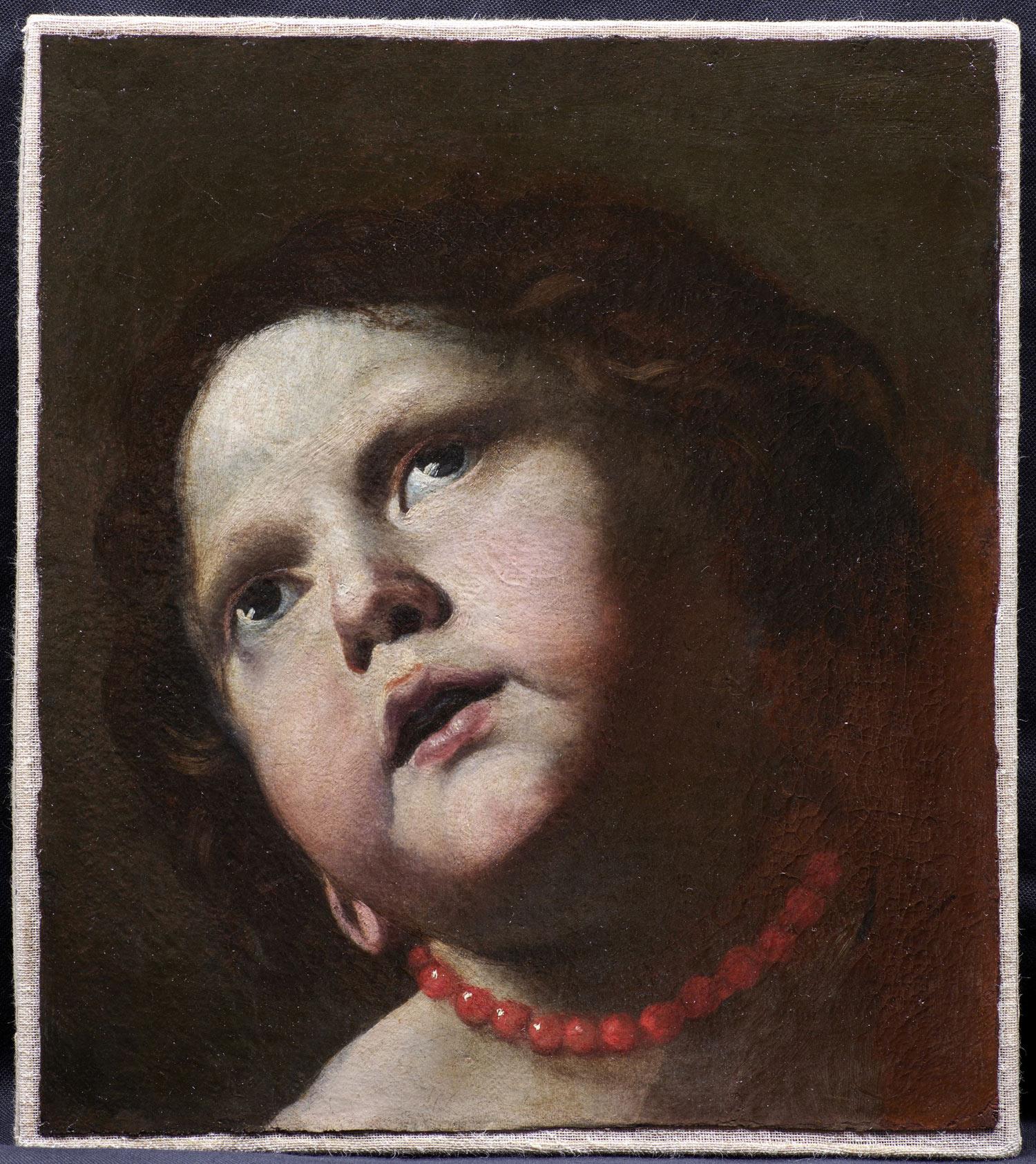 Mattia Preti, Testa di bambina con collana di corallo (1645-1650; olio su tela, 32 x 28,5 cm; Roma, Gallerie Nazionale d'Arte Antica, Galleria Corsini)