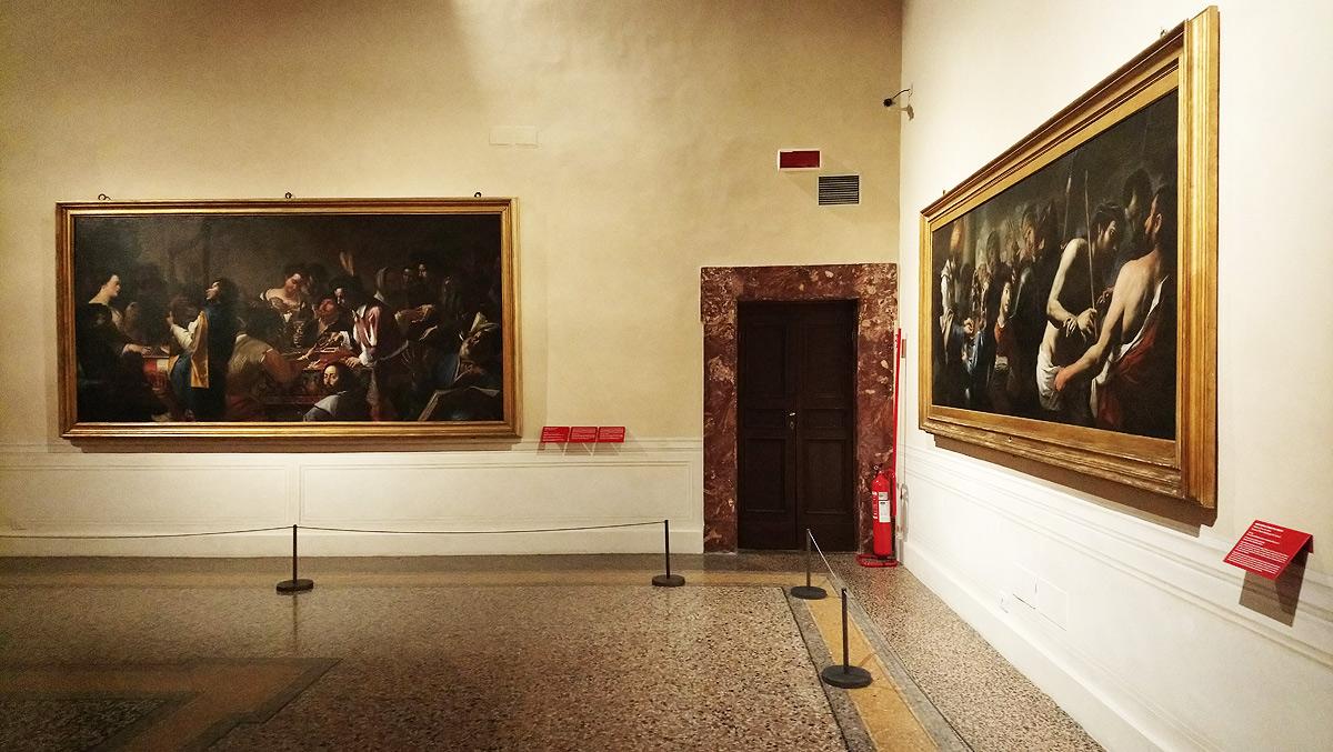 Immagine dalla mostra Il trionfo dei sensi. Nuova luce su Mattia e Gregorio Preti. Ph. Credit Finestre sull'Arte