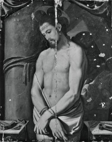 Santi di Tito, Ecce Homo (anni Settanta del XVI secolo; tavola, 104 x 84 cm; Collezione privata)