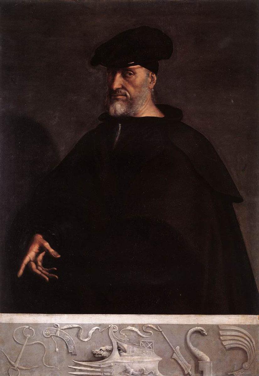 Sebastiano del Piombo, Ritratto di Andrea Doria (1526; olio su tavola, 153 x 107 cm; Genova, Palazzo del Principe)