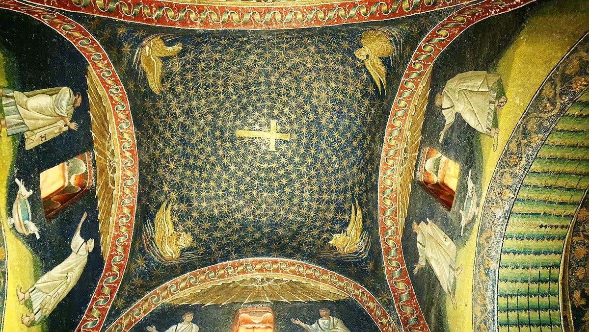 Ravenna, Mosaici della cupola del Mausoleo di Galla Placidia