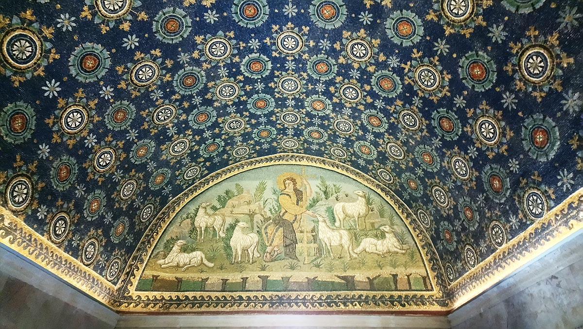 Ravenna, Mosaici della volta del Mausoleo di Galla Placidia