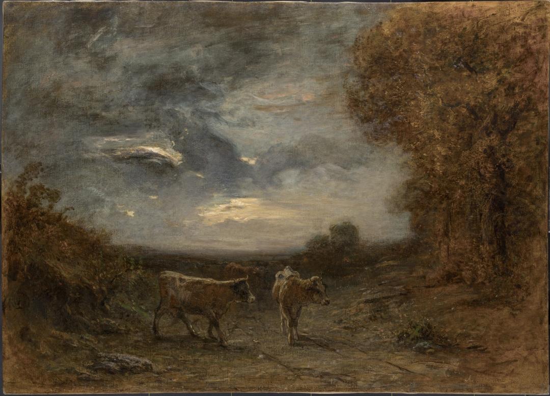 Antonio Fontanesi, Bufera imminente (1874; olio su tela, 102 x 141 cm; Reggio Emilia, Collezione Giorgio Zamboni)