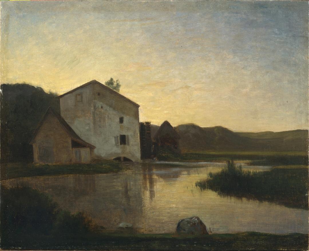 Antonio Fontanesi, Il mulino (1858-1859; olio su tela, 46,3 x 57,4 cm; Torino, GAM - Galleria Civica d'Arte Moderna e Contemporanea)