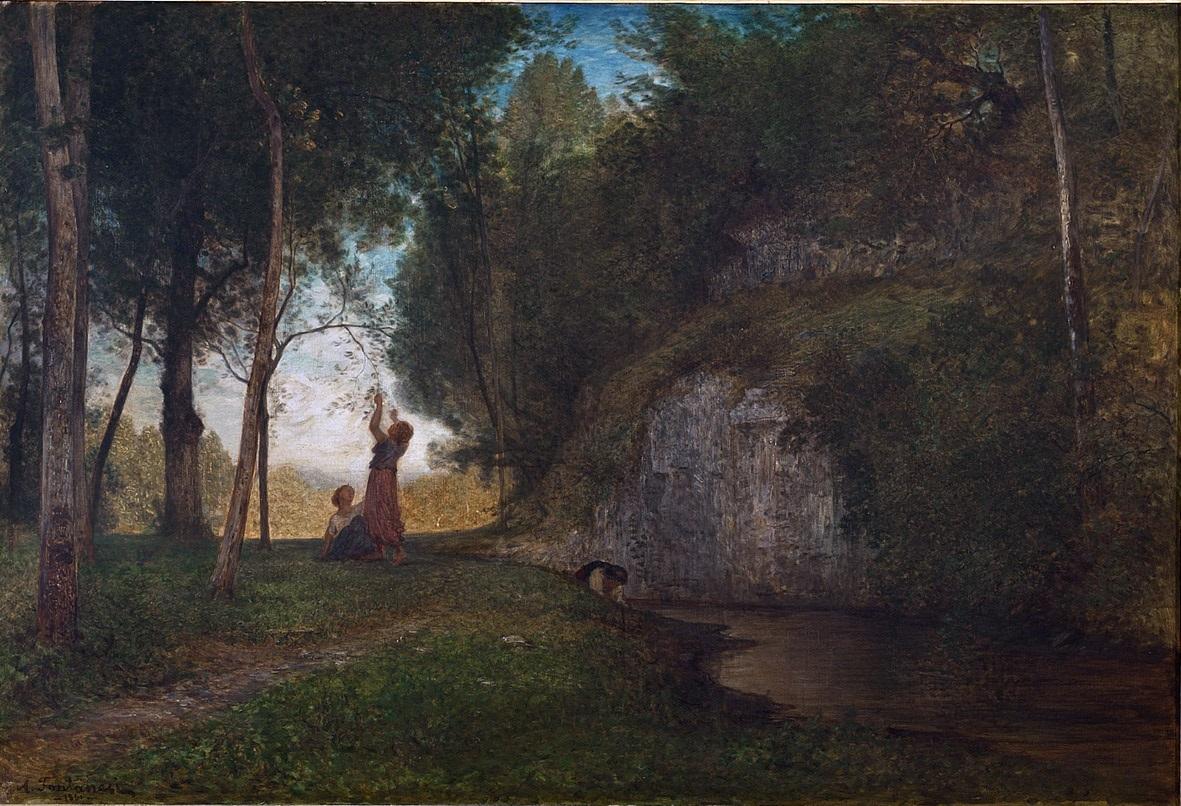 Antonio Fontanesi, La quiete (1860 circa; olio su tela, 81,5 x 119 cm; Torino, GAM - Galleria Civica d'Arte Moderna e Contemporanea)