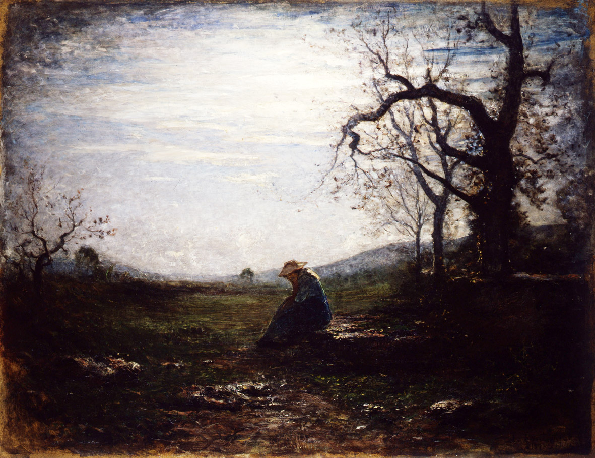 Antonio Fontanesi, Solitudine (1875; olio su tela, 115 x 150 cm; Reggio Emilia, Musei Civici)