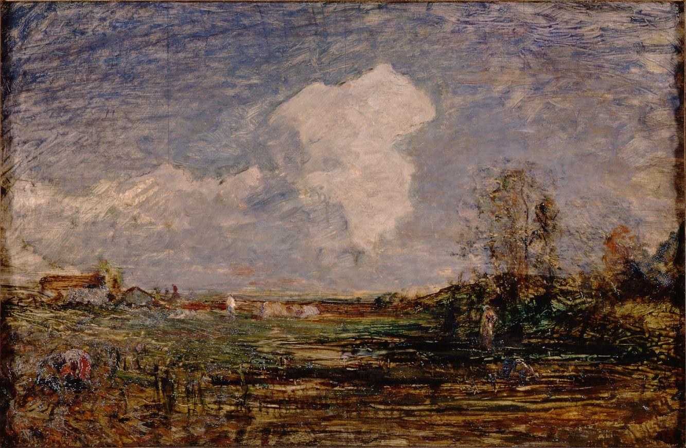 Antonio Fontanesi, Studio per Le nubi (1879-1880; olio su cartone, 51,7 x 75 cm; Torino, GAM - Galleria Civica d'Arte Moderna e Contemporanea)