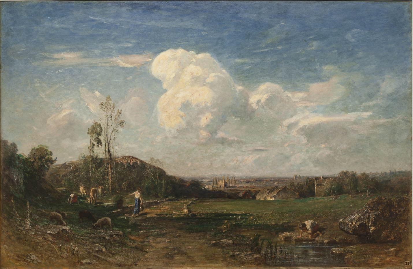 Antonio Fontanesi, Le nubi (1880; olio su tela, 200 x 300 cm; Torino, GAM - Galleria Civica d'Arte Moderna e Contemporanea)