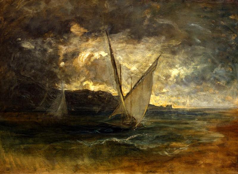 Antonio Fontanesi, Marina in burrasca (1878-1880; olio su tela, 80 x 110 cm; Reggio Emilia, Musei Civici)