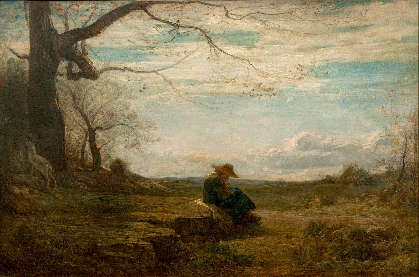 Antonio Fontanesi, Novembre (1864; olio su tela, 103 x 153 cm; Torino, GAM - Galleria Civica d'Arte Moderna e Contemporanea)