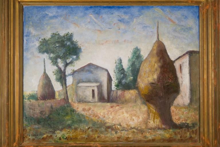Carlo Carrà, Pagliai (1929; olio su tela, 69 x 90 cm; Piacenza, Galleria d'Arte Moderna Ricci Oddi)