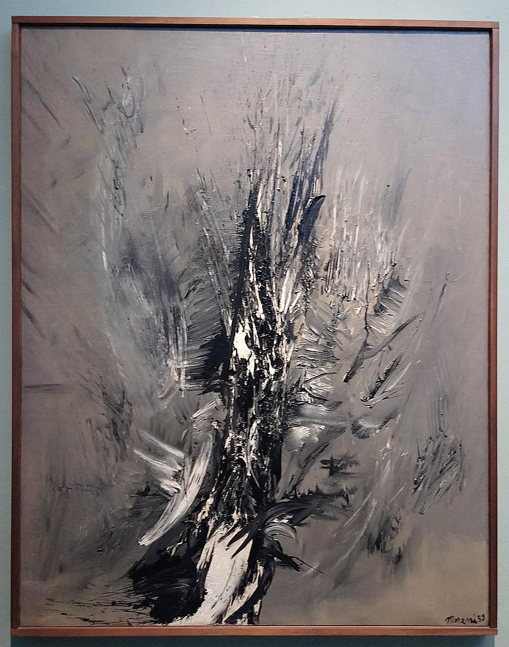 Mattia Moreni, Sole e rovo (1956; olio su tela, 170 x 100 cm; Collezione privata)