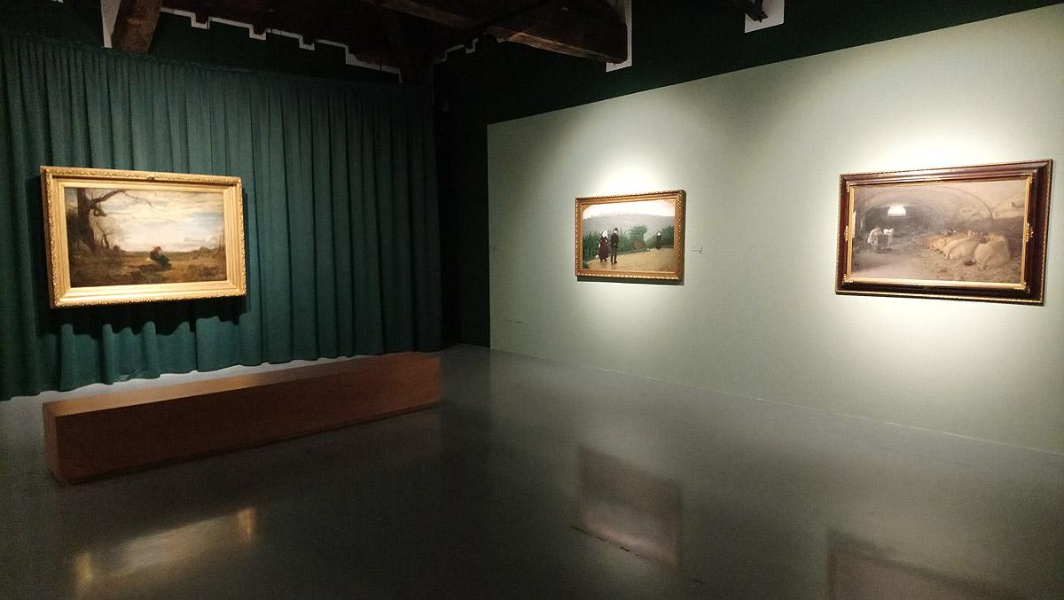 Sala della mostra Antonio Fontanesi e la sua eredità a Reggio Emilia, Palazzo dei Musei