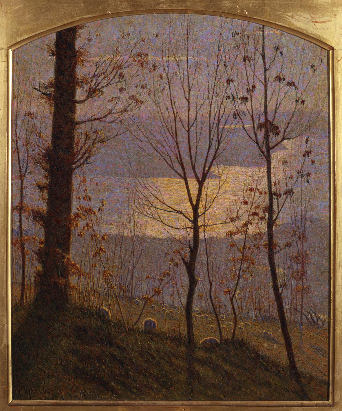 Vittore Grubicy de Dragon, Inverno (1898; olio su tela, 47,1 x 39,5 cm; Venezia, Galleria Internazionale d'Arte Moderna Ca' Pesaro)