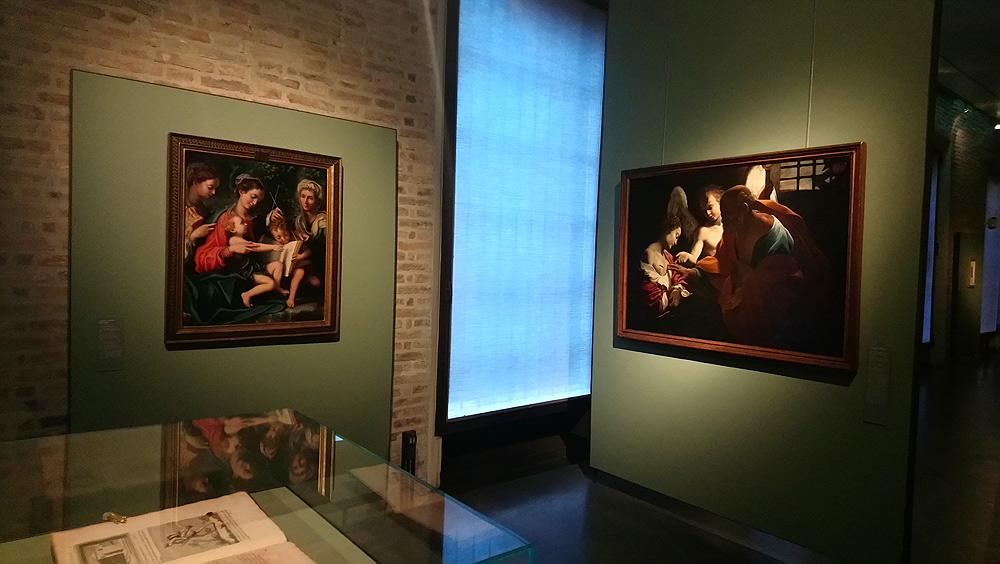 Una sala della mostra La fortuna della Scapiliata di Leonardo da Vinci