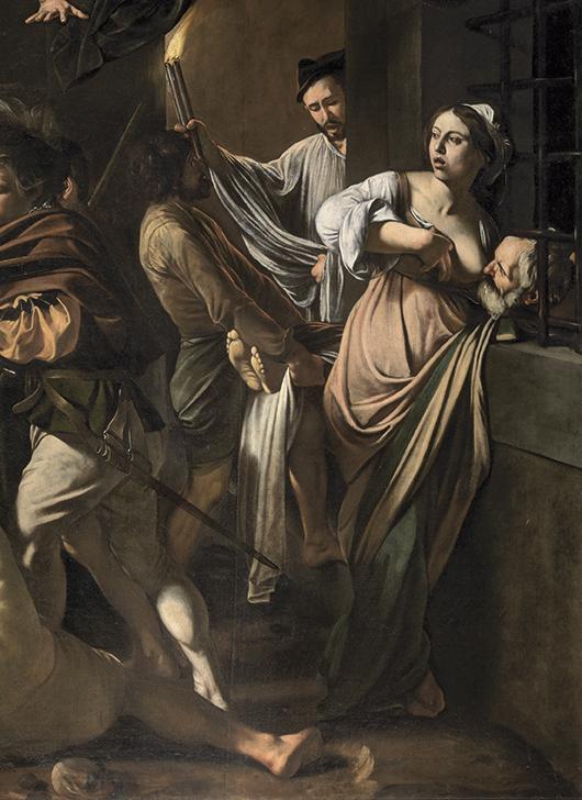 Caravaggio, Le Sette opere di misericordia, dettaglio