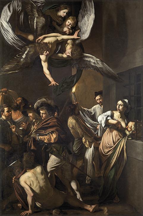 Michelangelo Merisi detto Caravaggio, Nostra Signora della Misericordia (1606-1607; Napoli, Pio Monte della Misericordia)