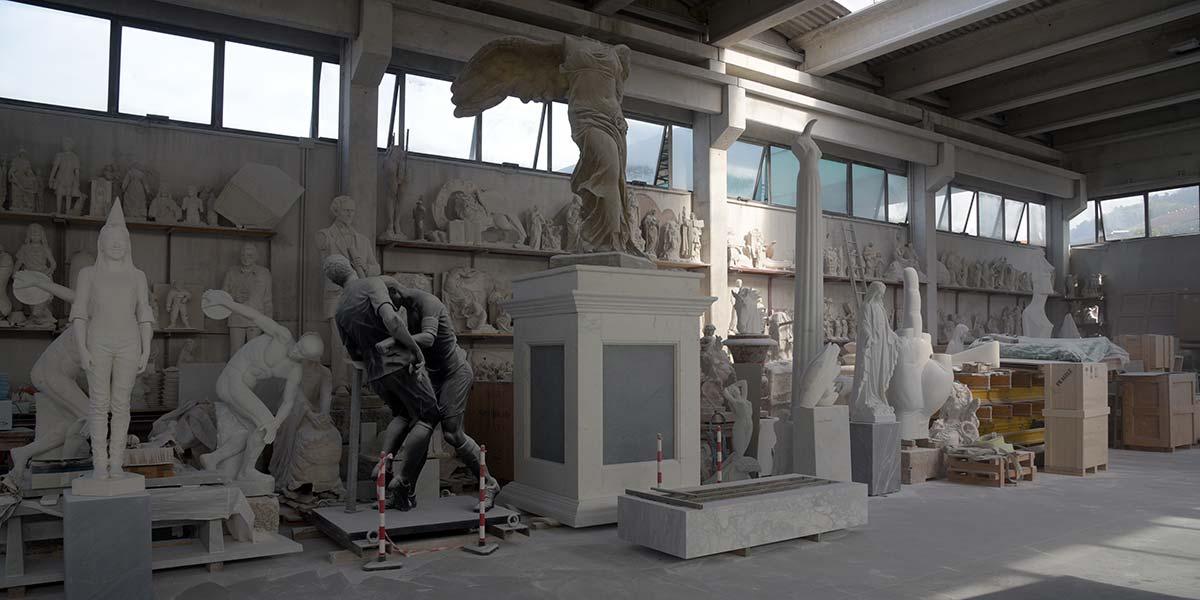 Laboratorio di scultura degli Studi d'Arte Michelangelo a Carrara
