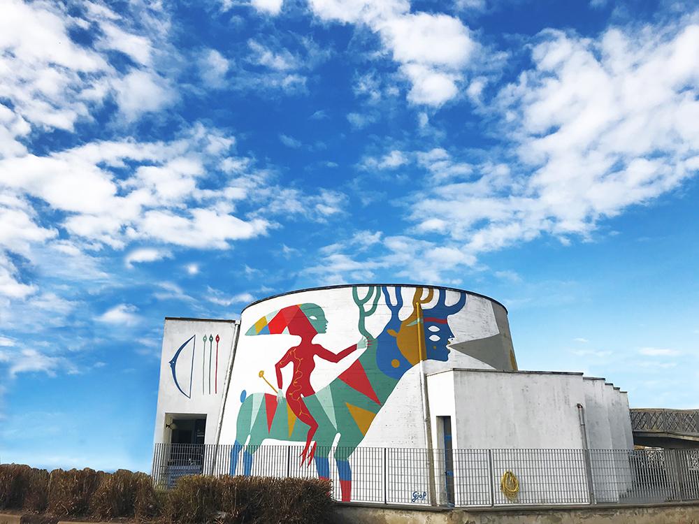 Diana, il murale di Gio Pistone a Livorno