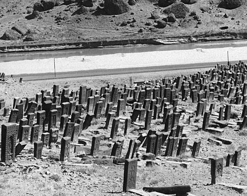 Il cimitero di Julfa in una foto del 1915