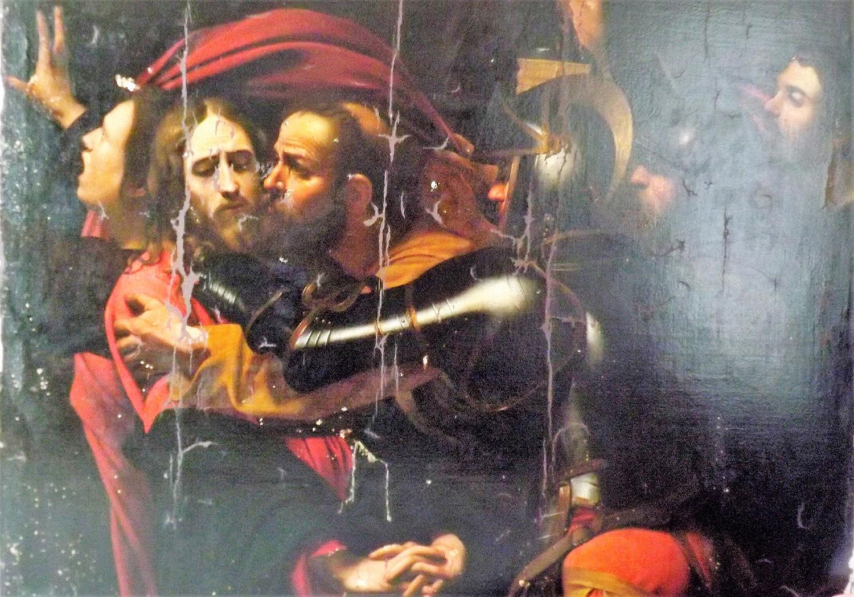 La Cattura di Cristo di Odessa durante il restauro