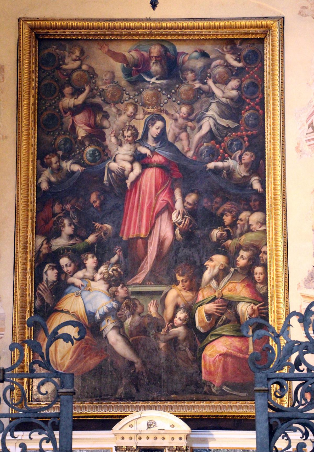 Giorgio Vasari, Madonna del Rosario (1570; tavola; Firenze, Santa Maria Novella)