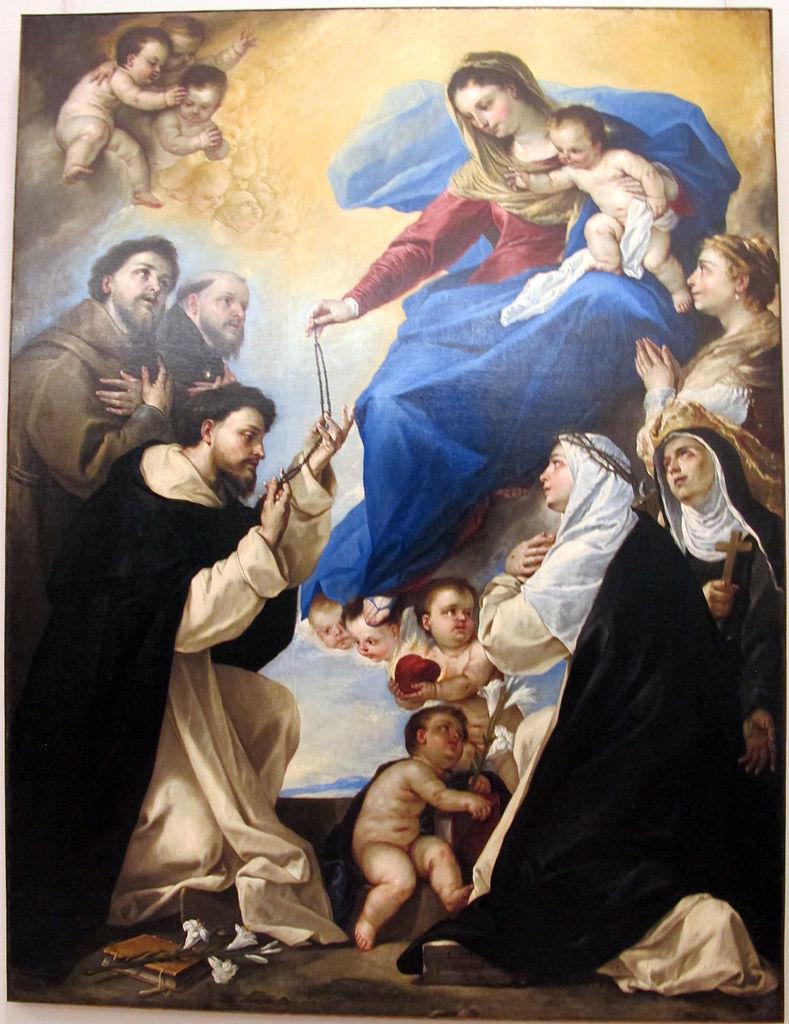 Luca Giordano, Madonna del Rosario (1657; olio su tela, 253 x 192 cm; Napoli, Museo Nazionale di Capodimonte)