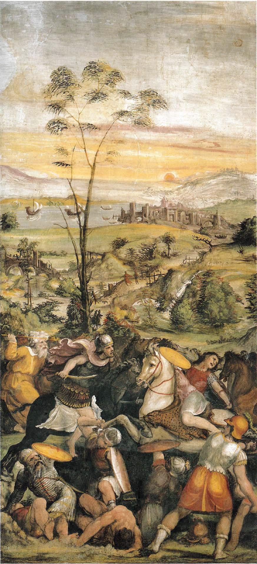 Bartolomeo di David, La battaglia di Isso (1519; pittura murale; Roma, Villa Farnesina)