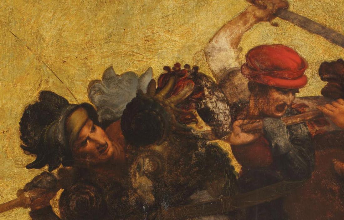 Dettagli della Tavola Doria: Francesco Piccinino e Niccolò Piccinino