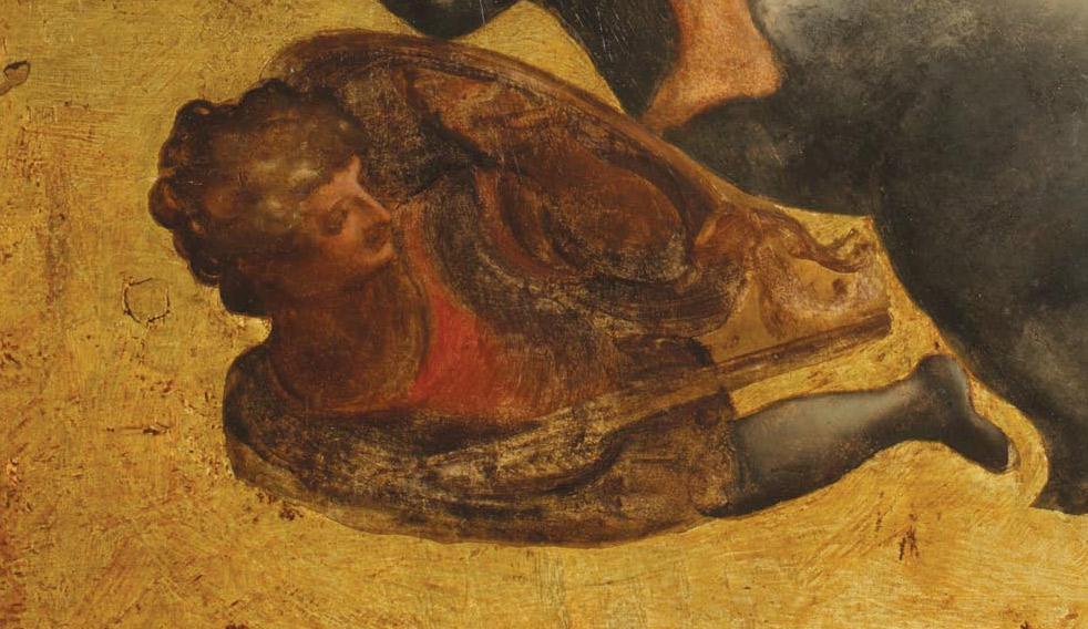 Dettagli della Tavola Doria: il soldato con lo scudo
