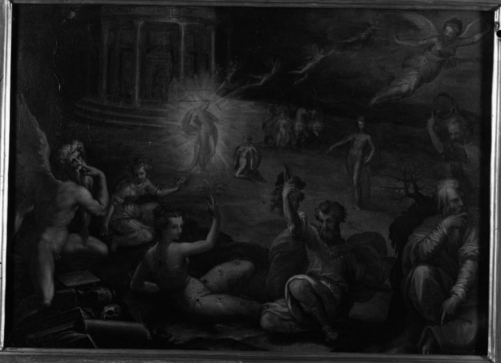 Francesco Morandini detto il Poppi, La casa del sole (terzo quarto del XVI secolo; olio su tavola, 54 x 61 cm; Arezzo, Casa Vasari)