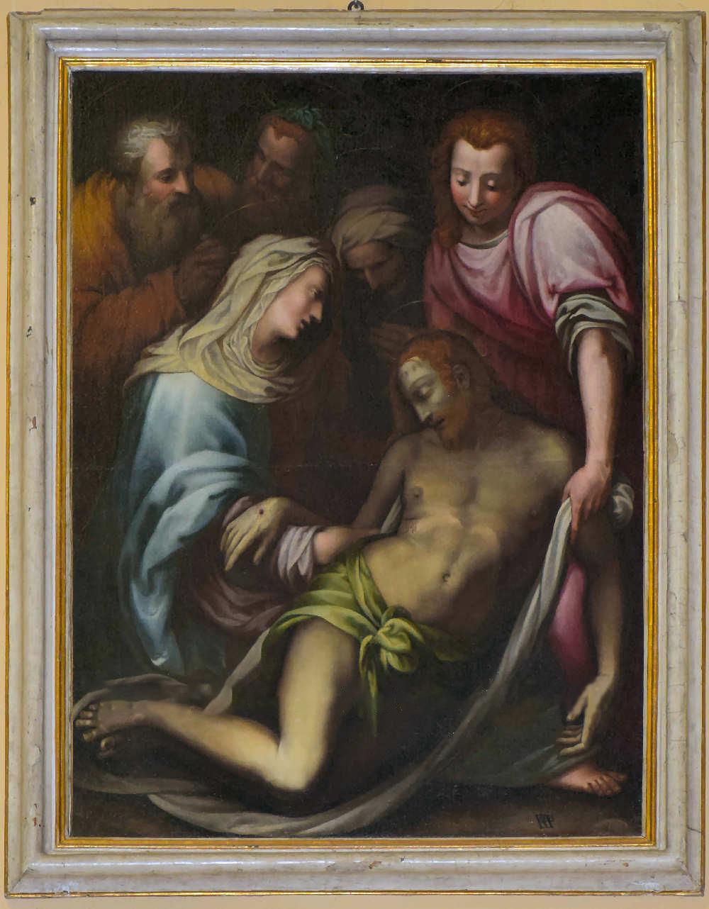 Francesco Morandini detto il Poppi, Compianto sul Cristo morto (1580-1590 circa; olio su tela, 140 x 100 cm; Poppi, Prepositura di San Marco)