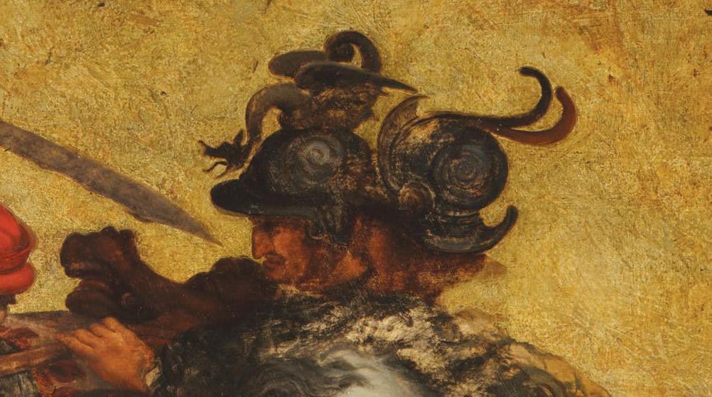 Dettagli della Tavola Doria: Ludovico Scarampo Mezzarota e Pietro Giampaolo Orsini